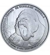 Срібна монета 1oz Сільвербек Горила 5000 франків КФА 2015 Конго