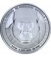 Серебряная монета 1oz Сильвербэк Горилла 5000 франков КФА 2016 Конго