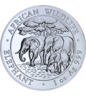 Серебряная монета 1oz Слон 100 шилингов 2013 Сомали