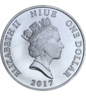 Серебряная монета 1oz Ангел-Хранитель 1 доллар 2017 НИУЭ