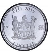 Серебряная монета 1oz Coca Cola 1 доллар 2019 Фиджи