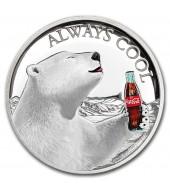 Серебряная монета 1oz Coca Cola 2 доллара 2019 Фиджи