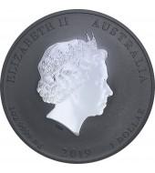 Срібна монета 1oz Рік Свині 1 долар 2019 Австралія (Кольорова)