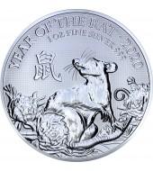 Срібна монета 1oz Рік Щура (Миші) 2 фунта стерлінгів 2020 Великобританія