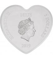 Серебряная монета 1oz Любовь Дисней 2 доллара 2019 НИУЭ (цветная)