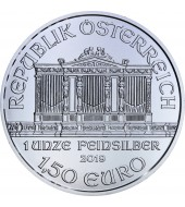 Срібна монета 1oz Віденська Філармонія 1,5 євро 2019 Австрія
