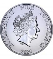 Срібна монета 1oz Міккі та Мінні Маус 2 долара 2020 Ніуе