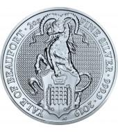 Срібна монета 2oz Єльський Бофорт 5 фунтів 2019 Великобританія