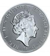 Срібна монета 2oz Чорний Бик 5 фунтів 2018 Великобританія