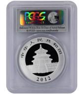 Серебряная монета 1oz Китайская Панда 10 юань 2012 Китай (PCGS MS69)