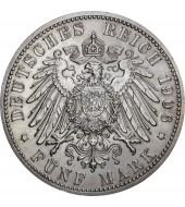 Срібна монета 5 марок 1906 Баден Німецька імперія