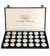 """Набор серебряных монет (28шт.) """"XXI летние Олимпийские Игры в Монреале"""" 5-10 долларов Канада 1973"""