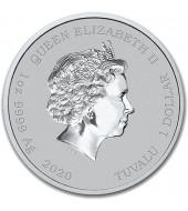 "Серебряная монета 1oz Клоун Красти (серия ""Симпсоны"") 1 доллар 2020 Тувалу"