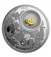 Срібна монета Слоненя 500 франків 2020 Камерун