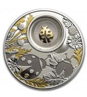 Серебряная монета Божья Коровка 500 франков 2020 Камерун