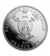 Срібна монета Весільна подорож 500 франків 2019 Камерун (кольорова)