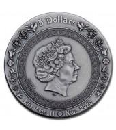 Серебряная монета 2oz Афродита и Венера 5 долларов 2019 Ниуэ