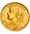 Золота монета Гельвеція 20 франків 1947 Швейцарія