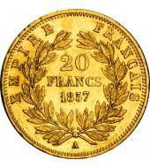 Золота монета Наполеон III 20 франків 1857 Франція